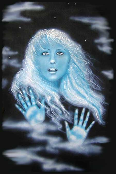 Lost Girl - An Original Painting by Tina Parsons
