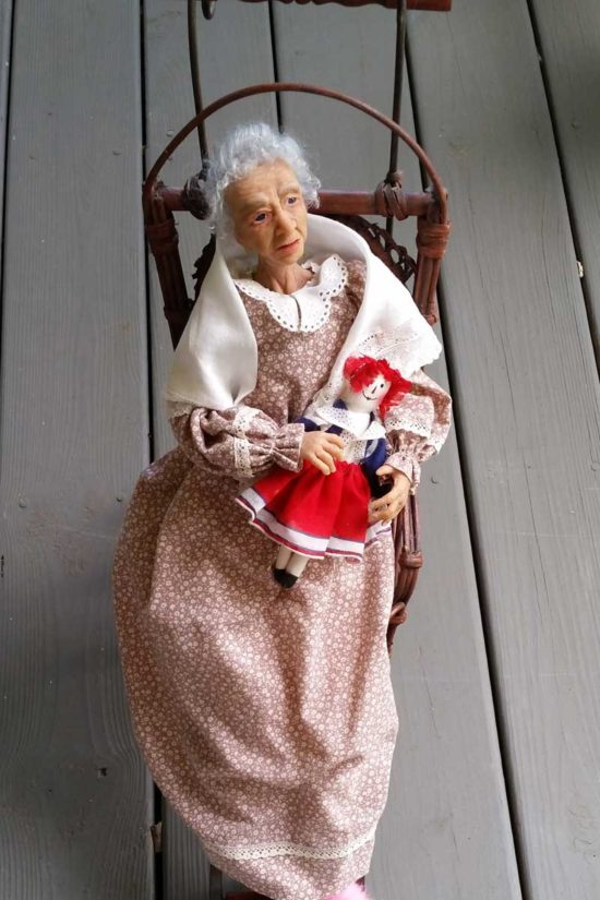 grandmom art doll by Tina Parsons