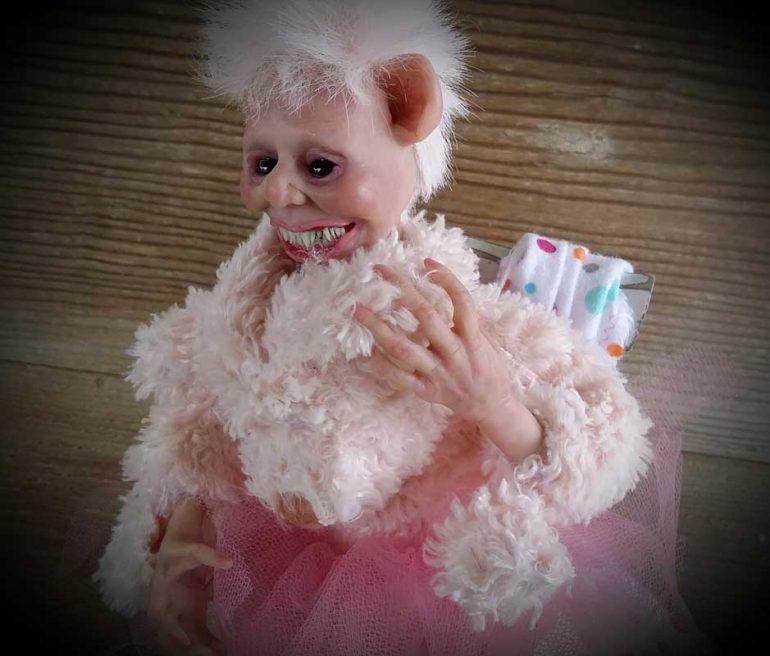 Teddy Bear Nightmare art doll by TIna Parsons