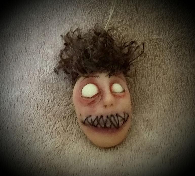 Dead eyed shrunken head Tina Parsons